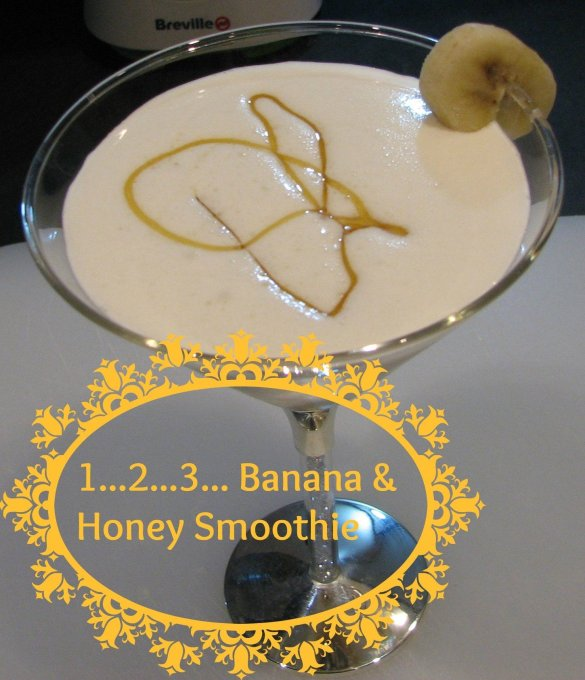 1,2,3 Banana & Honey Smoothie - Alcohol-Free Drink Ideas for the Mamas
