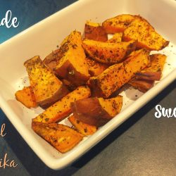 smoky basil and paprika sweet potato wedges - A delicious chip alternative with easy, homemade spice mix!