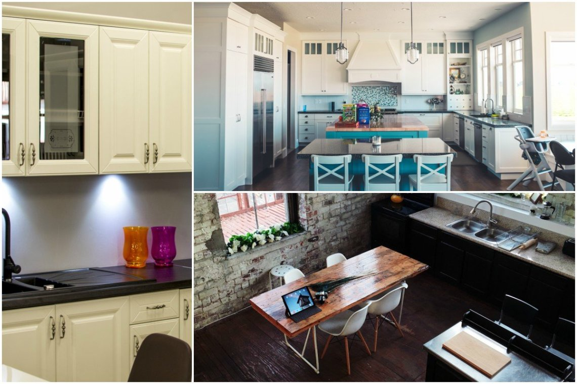 organised home kitchen collage