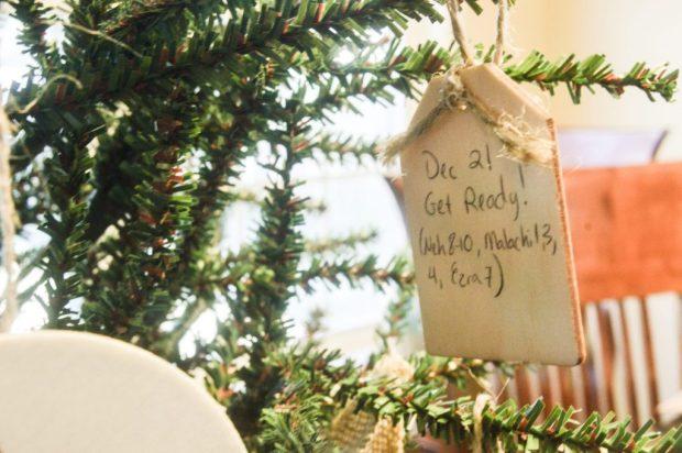 DIY Jesse Tree Advent Calendar closeup