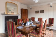 The dining room is perfect for a family gathering or celebration