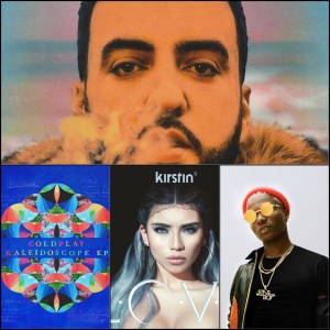 French Montana, Coldplay, Kirstin, WizKid © Epic, Parlophone, RCA