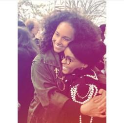 Photo of Alicia Keys and Janelle Monae via Instagram