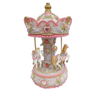 Large Pink Heart Carousel 14233