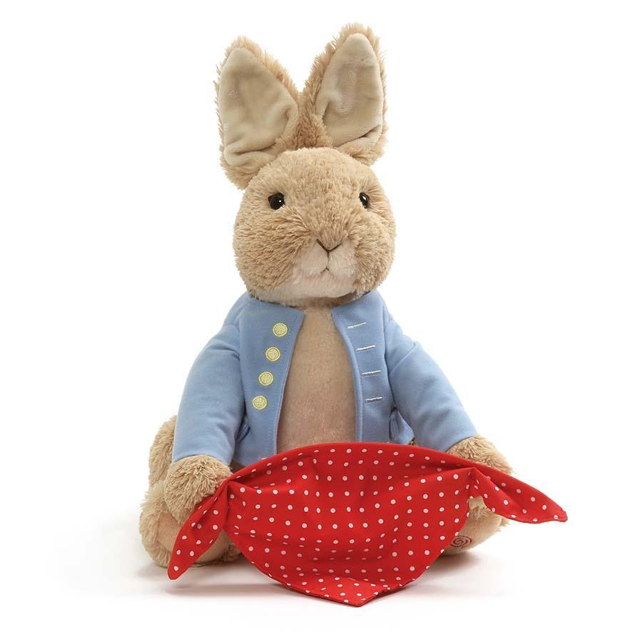 Peter Rabbit animated talking plush toy