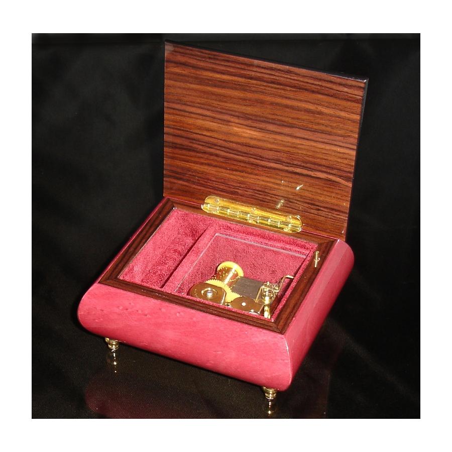 Italian Jewelry Box Heart 17CC Wine Red opened no cover