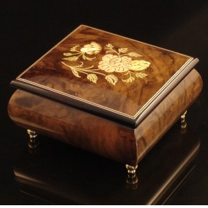 Italian Jewelry Box Burl Walnut 17CF