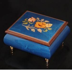 Italian Jewelry Box Dark Blue 17CF