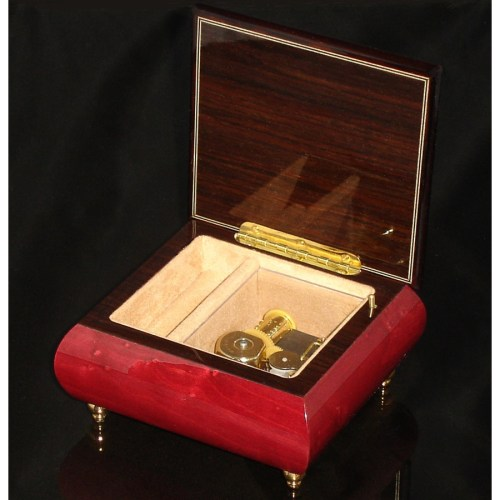 Italian Jewelry Box Wine Red 17CF opened no cover