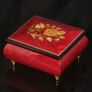 Italian Jewelry Box Wine Red 17CF