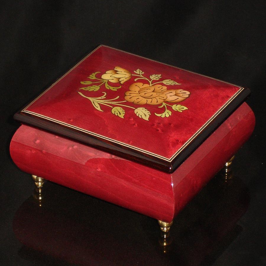Italian Jewelry Box Wine Red 17CF