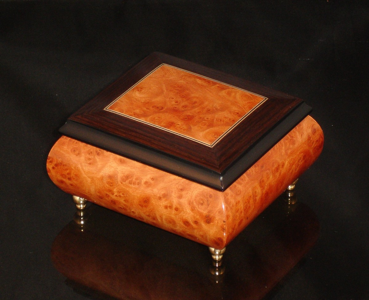 17CO Burl Elm Italian Jewelry Box