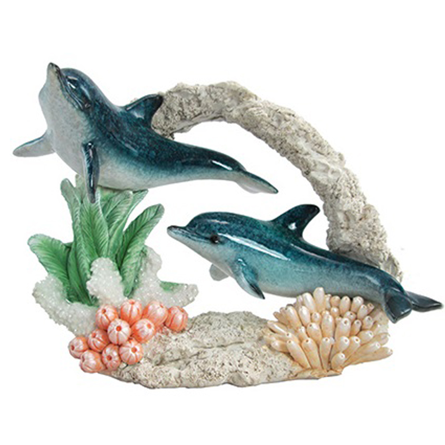 2 Blue Dolphins in Coral