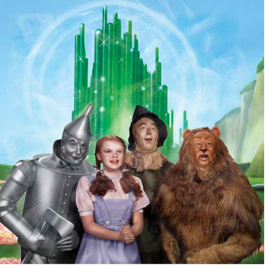 Dorothy, Scarecrow, Lion and Tin Man stretched canvas wall art