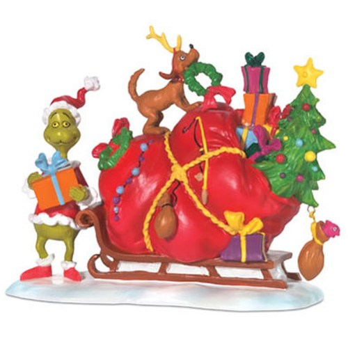 The Grinch and sled by Department 56 804158
