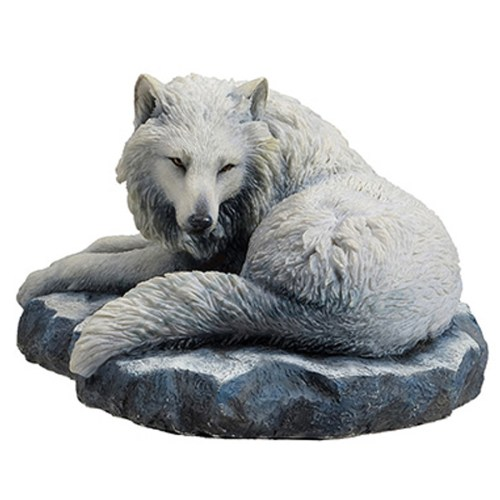 Guardian of the North wolf figurine front view