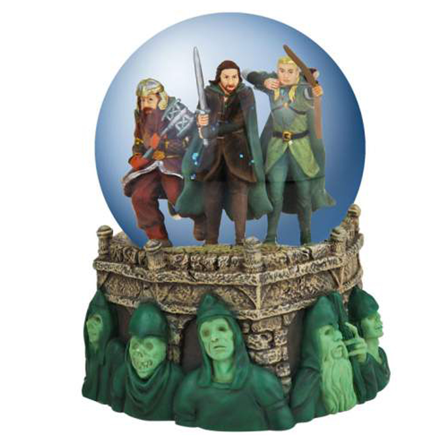 Lord of the Rings water globe The Battle