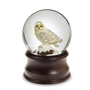 Owl musical water globe