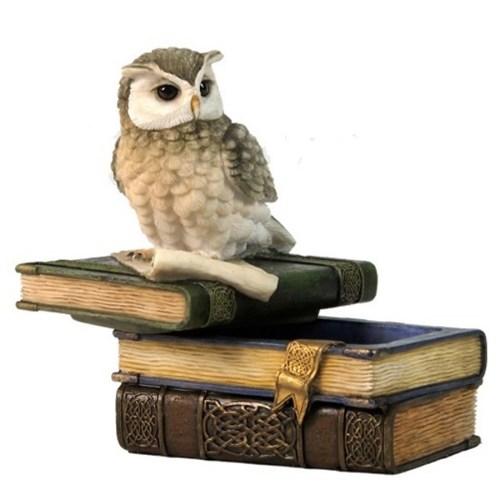 Scops Owl on trinket box