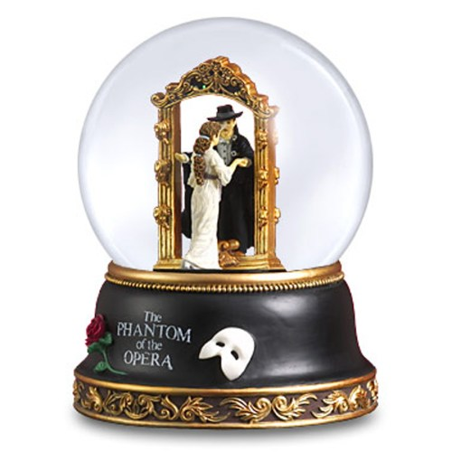 Phantom and Christine Musical Mirror Globe 21896