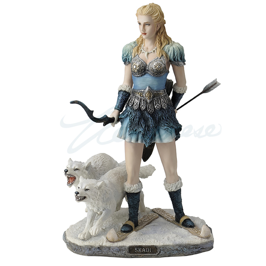 Skadi Norse Goddess with wolves
