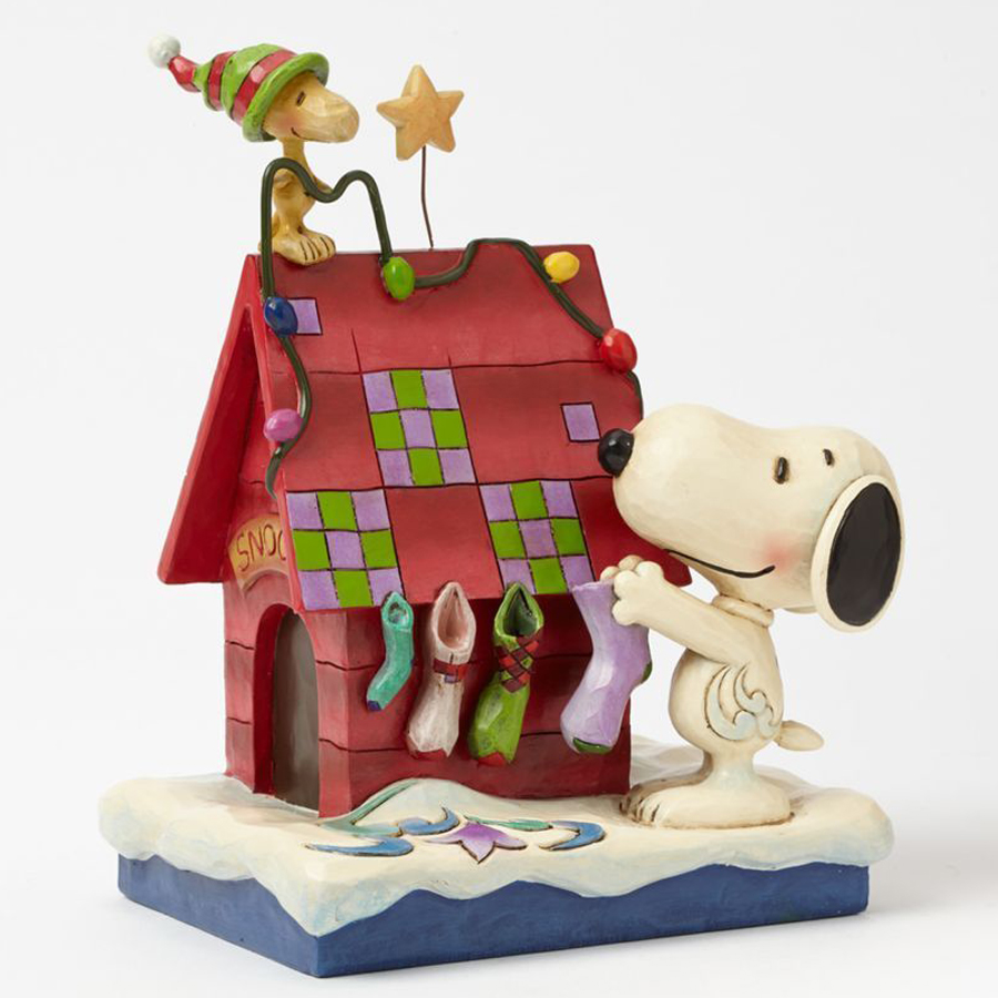 Prepping for Santa Snoopy and Woodstock figurine by Jim shore 4042372