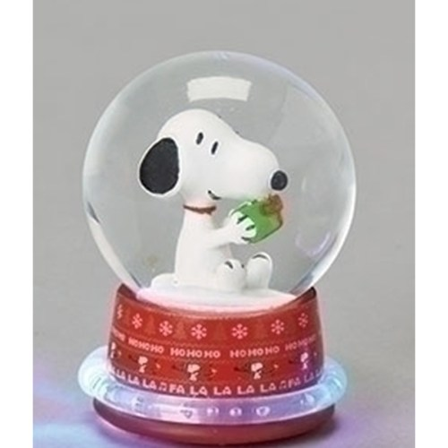 Snoopy with Present globe