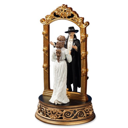 Phantom and Christine Through the Mirror musical figurine alt view