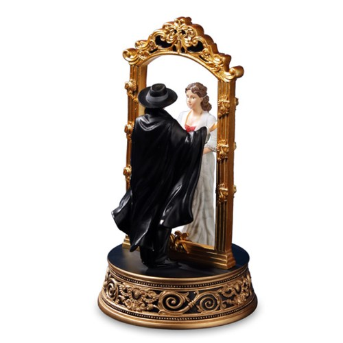 Phantom and Christine Through the Mirror musical figurine