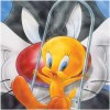 Tweety and Sylvester Canvas Wall Art