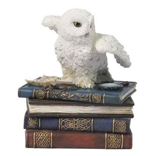 White Owl Trinket Box
