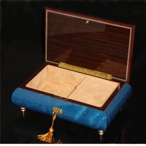 Italian Jewelry Box 02A Dark Blue opened