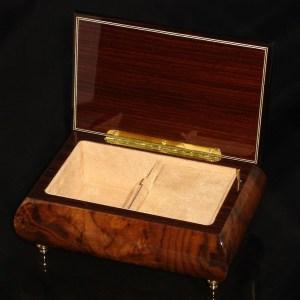 Italian Jewelry Box Walnut 04A opened