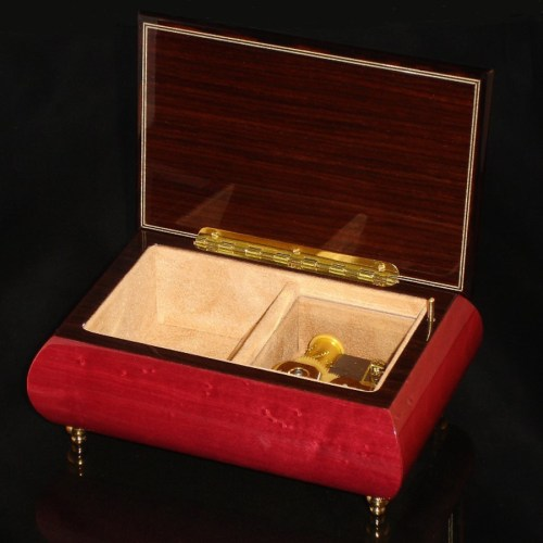 Italian Jewelry Box Wine Red 04CVM opened no cover