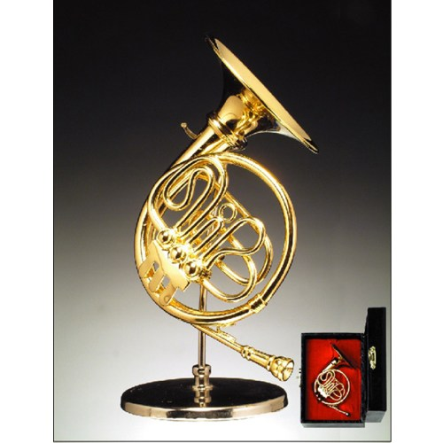 Miniature French Horn with stand and case BRO4H