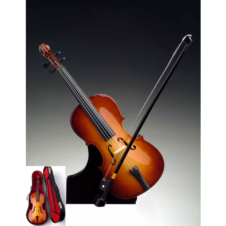 Miniature Cello with stand and case