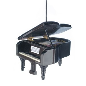 Miniature black Grand Piano Ornament