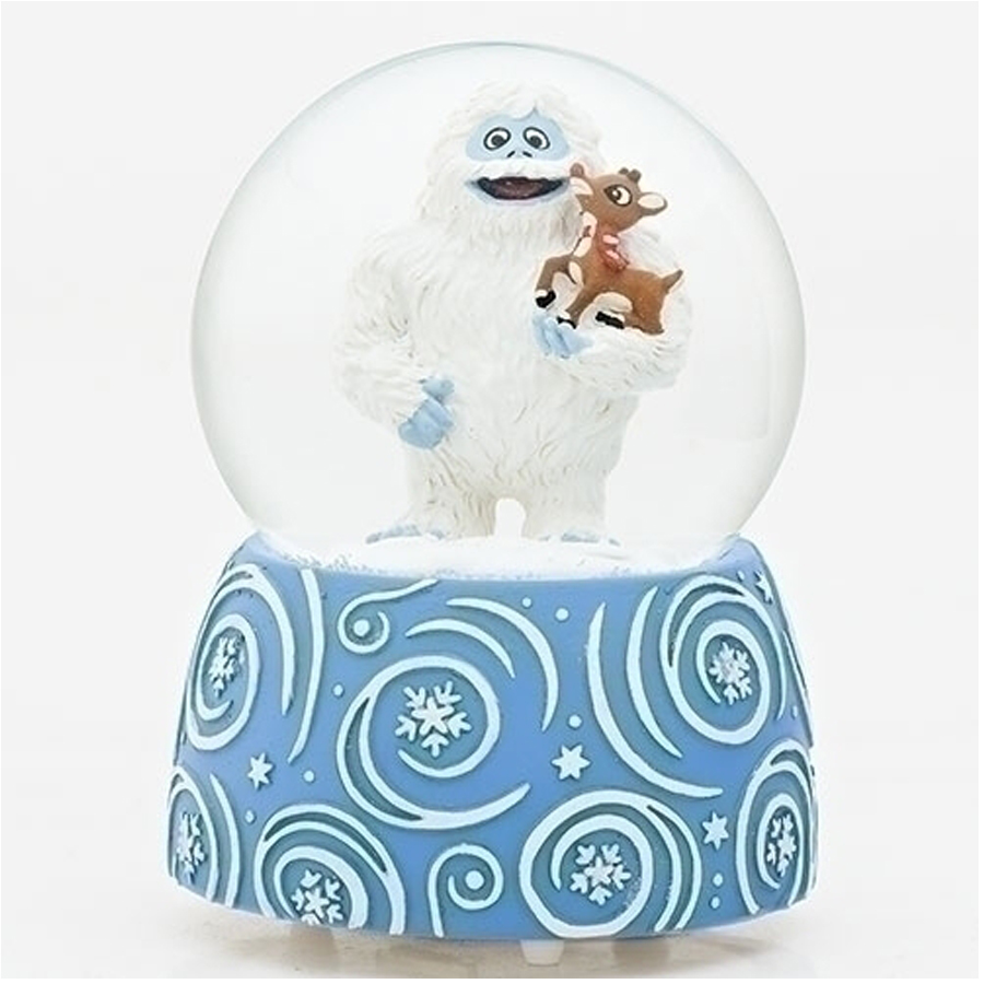 Bumble and Rudolph musical water globe