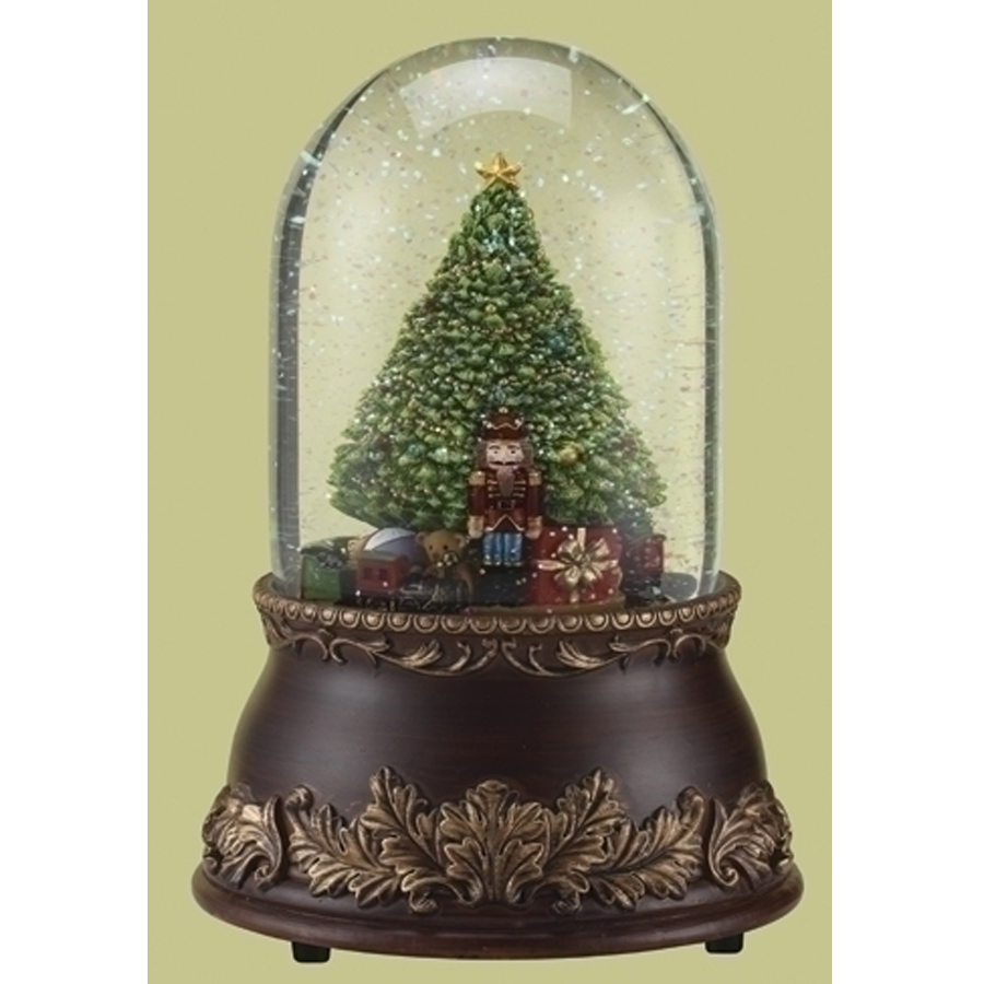 Musical Glitter Dome with a Christmas tree and presents inside.