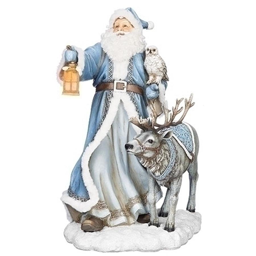 Extra Large Santa and Reindeer figurine