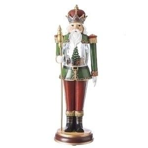 Extra large Nutcracker with animated train inside the globe