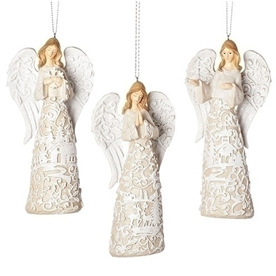Ornament Angel Laser Cut in white