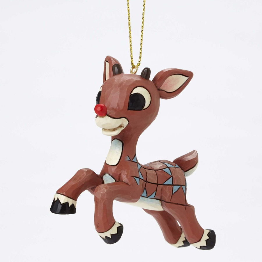 Rudolph Ornament by Jim Shore front view