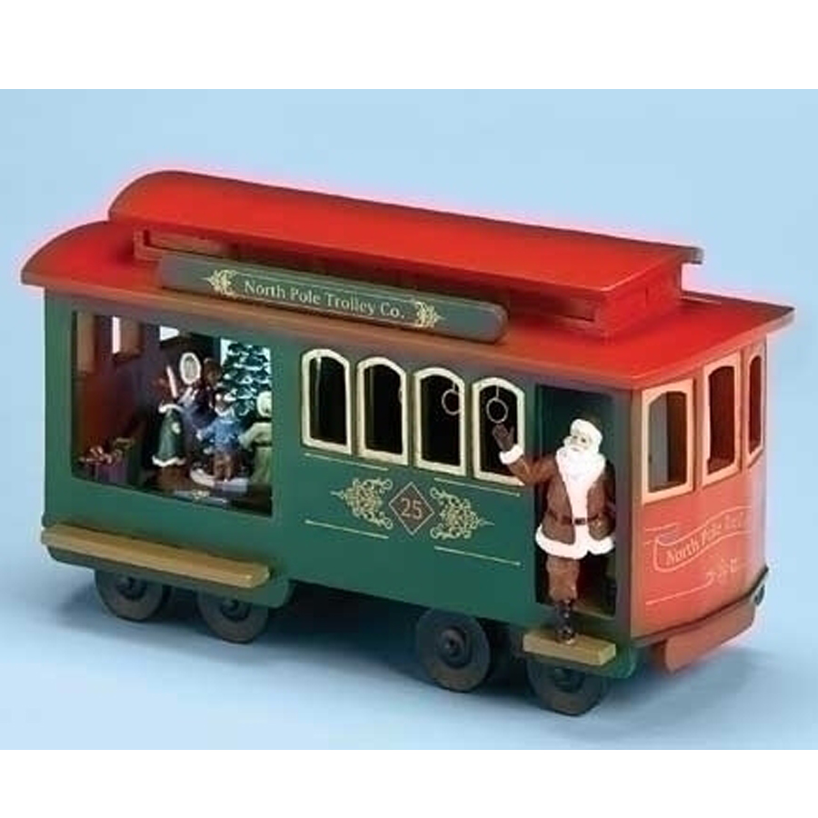 Large Trolley Car musical with Santa and Children