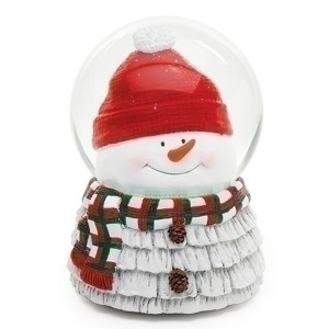 Adorable musical snowman globe with the head inside and the base is the snowman
