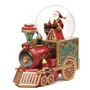 Santa Water Globe in a colorful musical Train