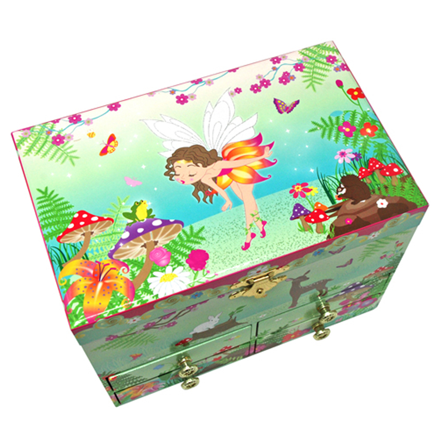 Forest Fairy medium jewelry box top view