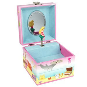 Mystic Mermaid Musical Jewelry Box -small-opened