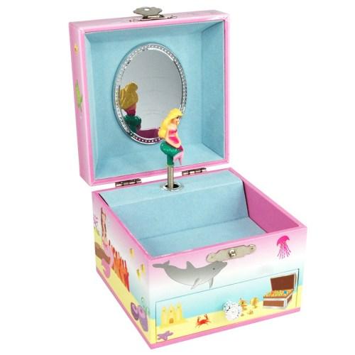 Mystic Mermaid Musical Jewelry Box -small-opened