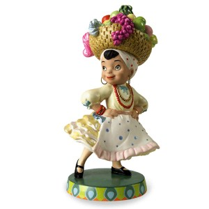 Disney Classics Small World Brazil figurine side view